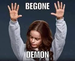 In the mighty name of Jesus, begone demon! | Back to school quotes funny,  Back to school funny, Back to school quotes